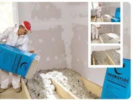aislamientos thermofloc para suelos con copos de celulosa