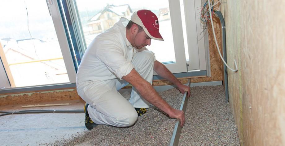 aislamiento de suelos con pellet de celulosa