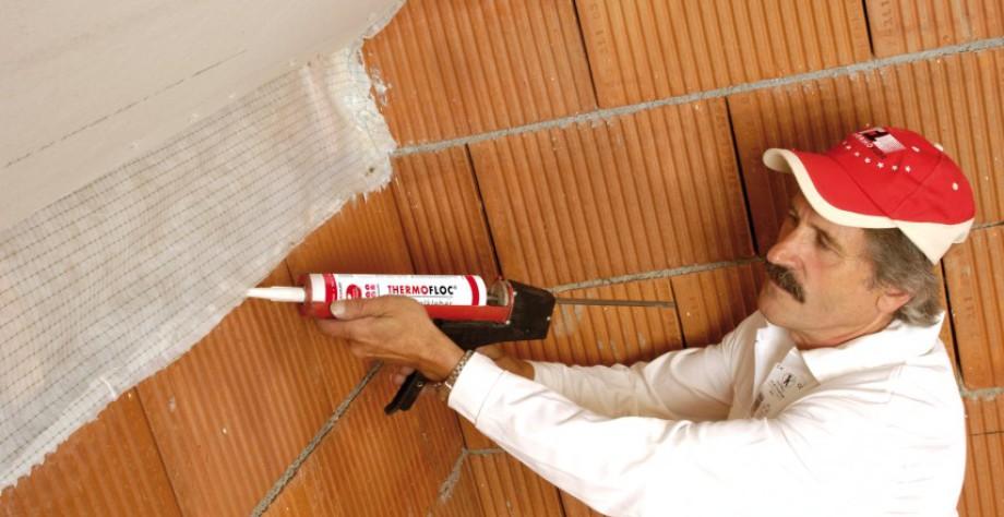 colocación de barreras o laminas de vapor Thermofloc